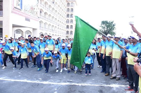 SJVN Organized A Mini Marathon to Promote Save Energy Save Environment