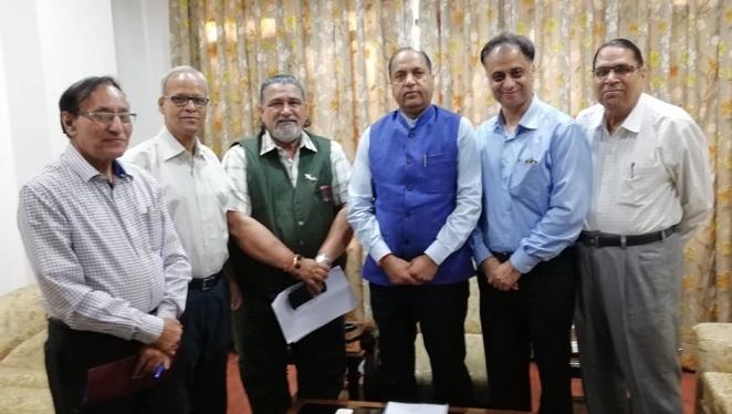 PRSI Delhi team met Himachal CM