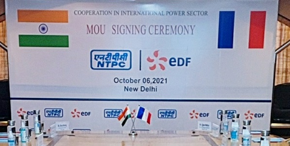 NTPC in pact with Electricite de France S.A. for cooperation in International Power sector