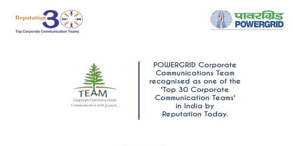 Power Grid CC team is recognized as Top 30 Corporate Communication Teams in India