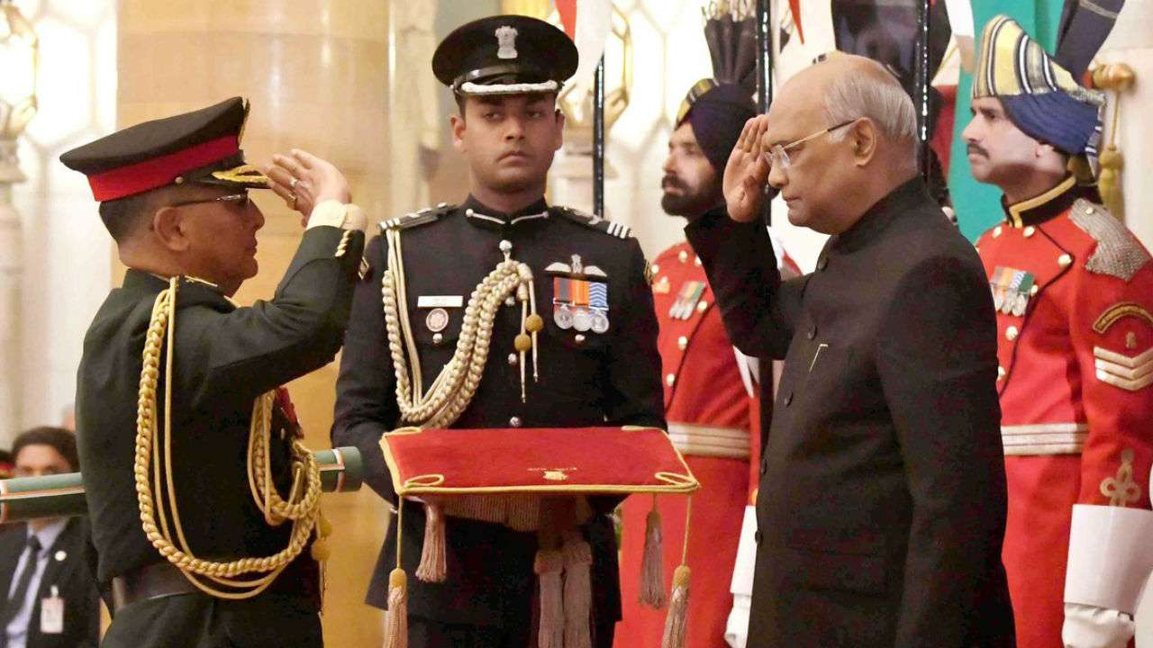 President of India Confers The Honorary Rank of General of The Indian Army on General Purna Chandra Thapa