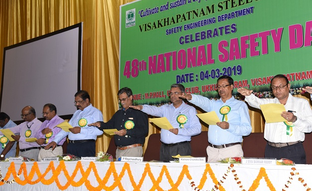 RINL Observed National Safety Day