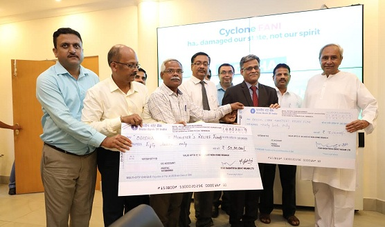 Vizag Steel Contributes Rs 140 Lakhs to Odisha CM Relief Fund