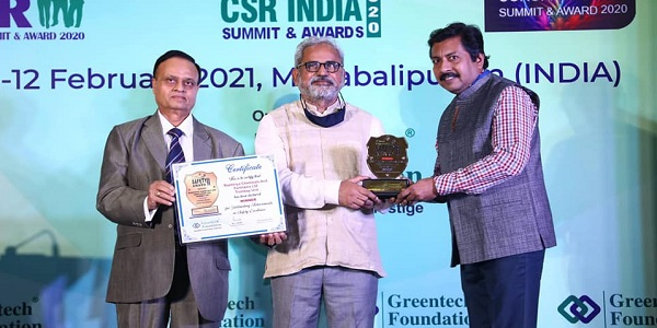 RCF awarded with Greentech Environment Award 2020
