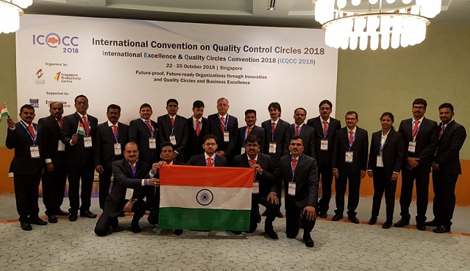 RINL- Vizag Steel Awarded at ICQCC Singapore