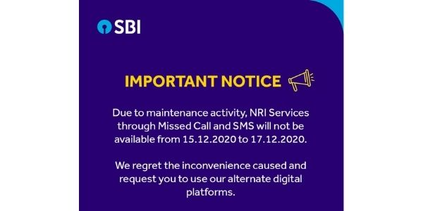 State Bank of India issued an important notice for their customers
