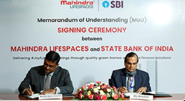 SBI signed MoU with Mahindra Lifespace