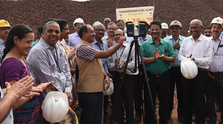 Latest 3D Laser Scanner Inaugurated in Vizag Steel