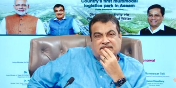 Shri Nitin Gadkari laid the foundation stone for the first Multimodal Logistics Park in Assam