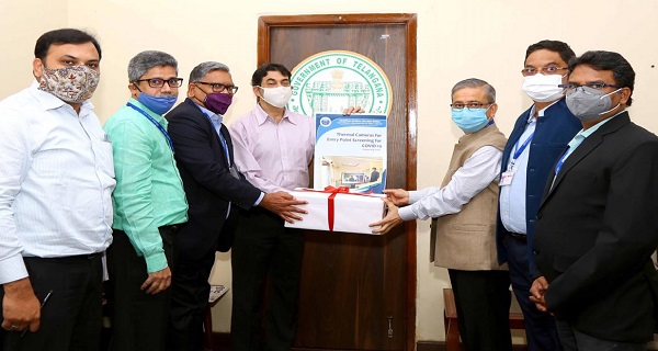 ECIL handed over the Thermal Scanners to Govt of Telangana under CSR