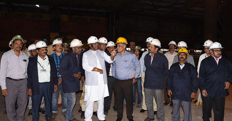 Union Minister of State for Steel Visits Vizag Steel