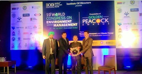 Golden Peacock Award presented to NTPC Vindhyachal Power Plant