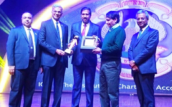 ICAI Conferred Excellent CA-CFO Award to Director Finance WCL
