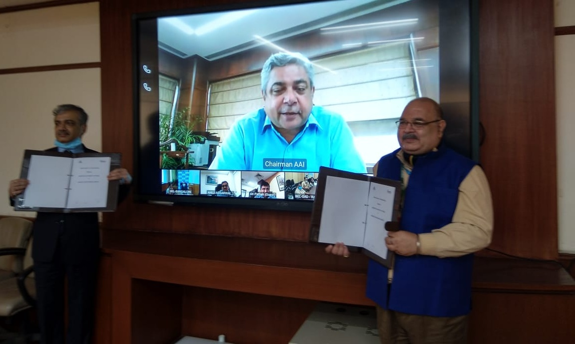AAI and BEL signs MoU for co-operation in Civil Aviation industry