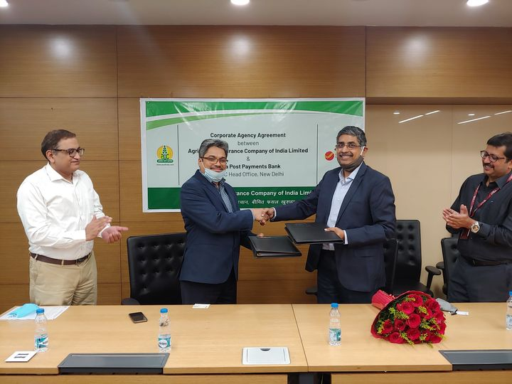 Agriculture Insurance Company of India Limited signed agreement with India Post Payments Bank
