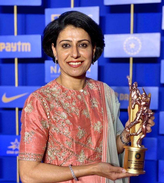 Air Indian received BCCI lifetime achievement award for women