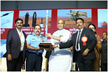 Medium Range Surface to Air Missile handed over to the Indian Air Force