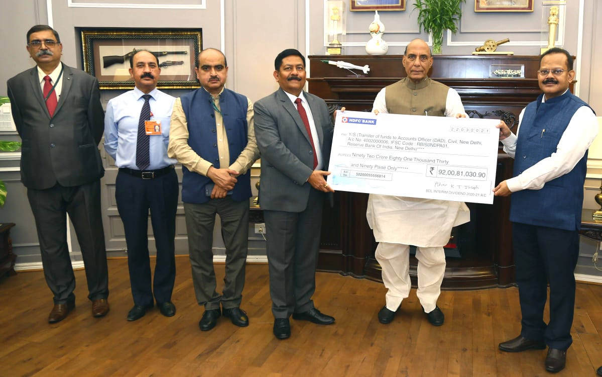 BDL paid interim dividend of Rs 92.008 crore to Govt