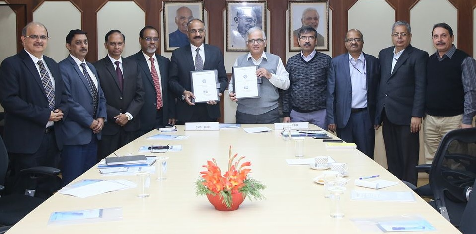 BHEL signs MoU with CSIR