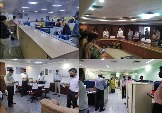 BHEL employees took the pledge war against Covid-19