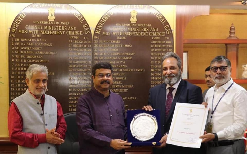 Bharat Petroleum Corporation Limited Wins 1st Prize for outstanding contribution during Swachhta Pakhwada 2019