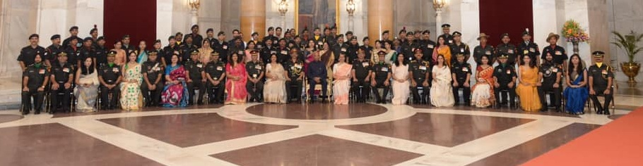 Territorial Army personnel and their families  invited to the rashtrapati bhavan