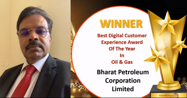 BPCL win awards at 3rd Edition Digital Customer Experience Excellence Awards 2021