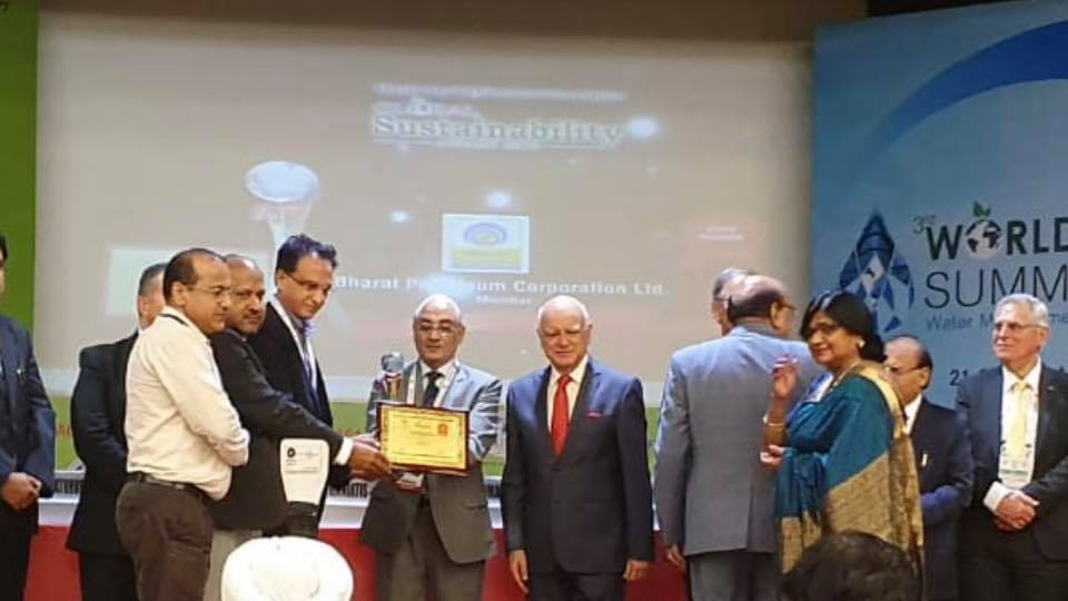BPCL awarded for  The Energy and Environment Foundation Global Sustainability Award 2019
