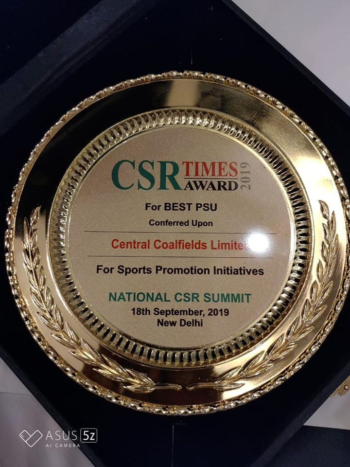 Central Coalfields Limited conferred The Best PSU award