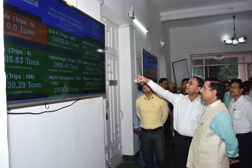 Coal Minister reviewed RFID based Vehicle Tracking System at CCL