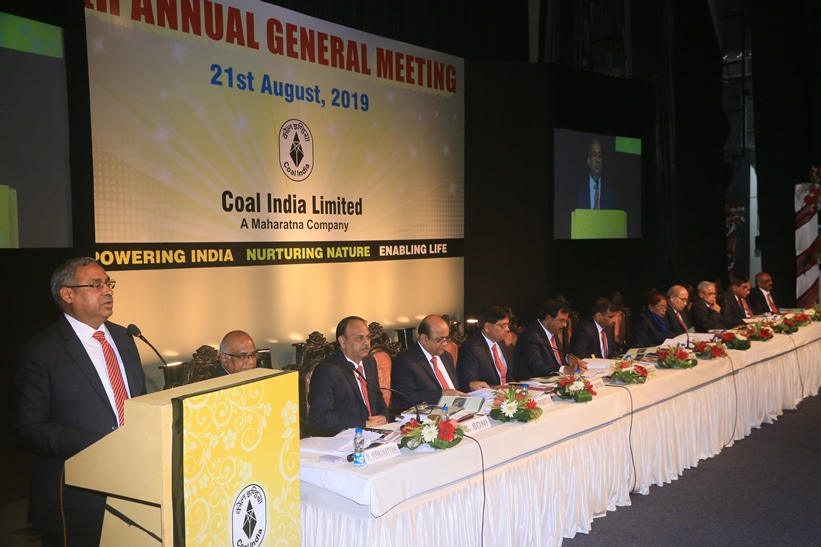 Coal India Limited held its 45th Annual General Meeting on 21st August 2019