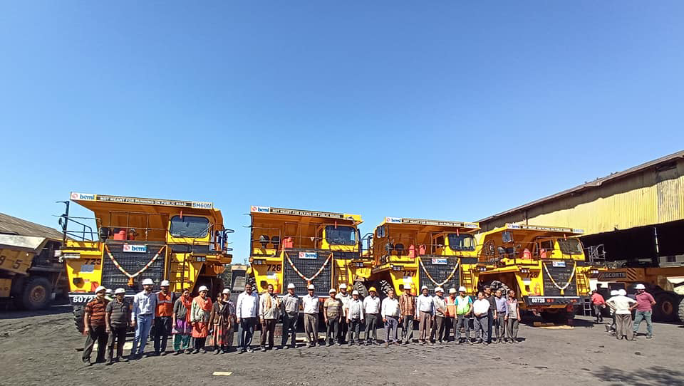 CIL commissions four new dumpers in Umrer OCP