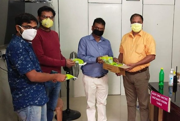 CMPDI handed over special safety PPE goggles
