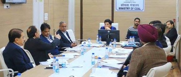 Coal Minister Chairs a Review Meeting