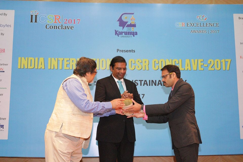 Shri Rusen Kumar honoured with 'CSR Person of the Year Award