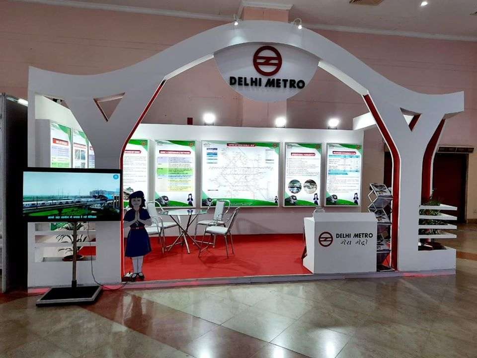 DMRC has set up a stall featuring the achievements of Delhi Metro