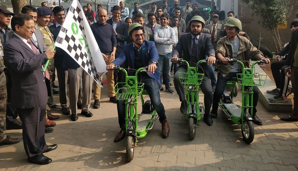 DMRC along with mobycy zypp has introduced e-cycle service