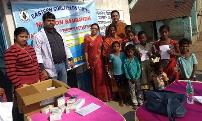 ECL organized a health camp at Sonepur