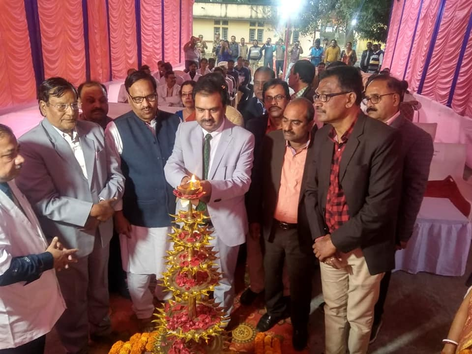Central hospital kalla organised oath taking and lamp lighting ceremony