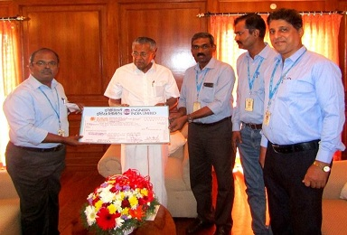 EIL Contributed in Kerala Flood Relief Fund