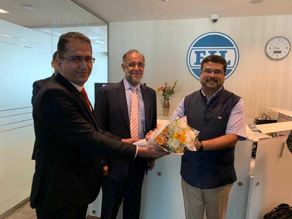 Dharmendra Pradhan Visits Engineers India Limited in Abu Dhabi