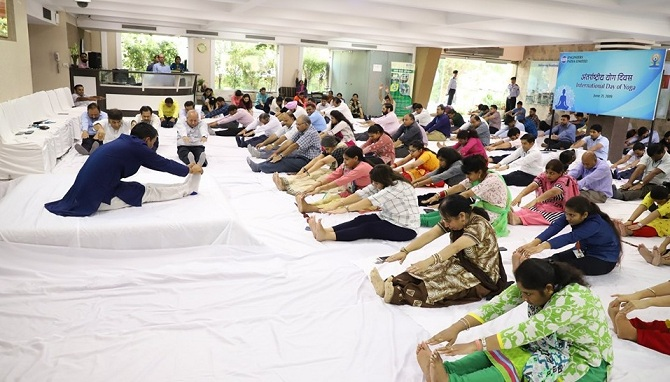 EIL Celebrated the International Yoga Day