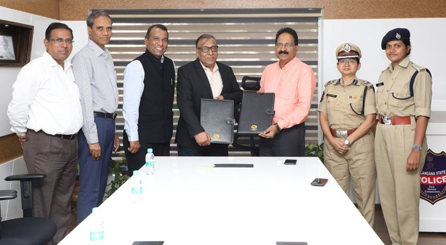GAIL signed an MoU with Telangana police