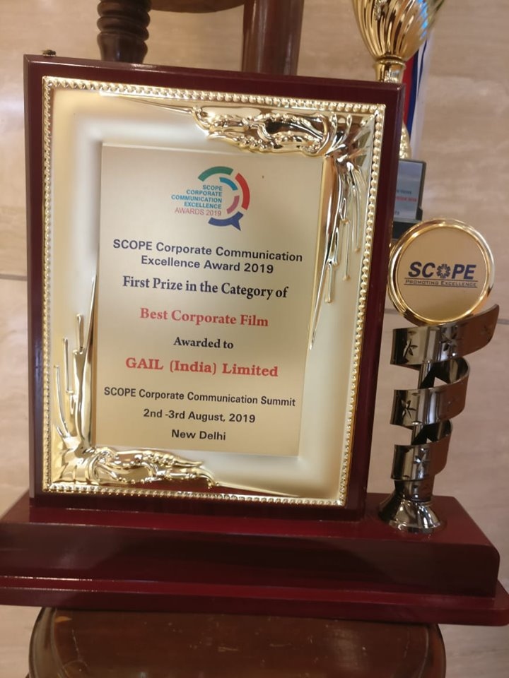 GAIL wins Best Corporate Film in the SCOPE Corporate Communications Excellence Award 2019
