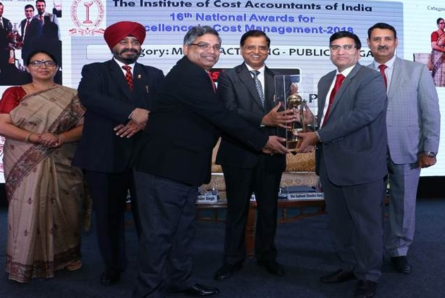 GAIL India Limited bagged 1st position in 16th National Awards for Excellence in Cost Management