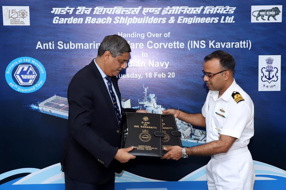 Anti Submarine Warfare Corvettes INS Kavaratti