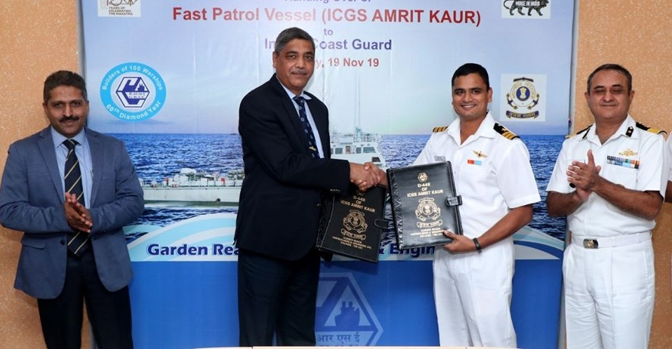 GRSE signed MoU with Commanding Officer of the vessel
