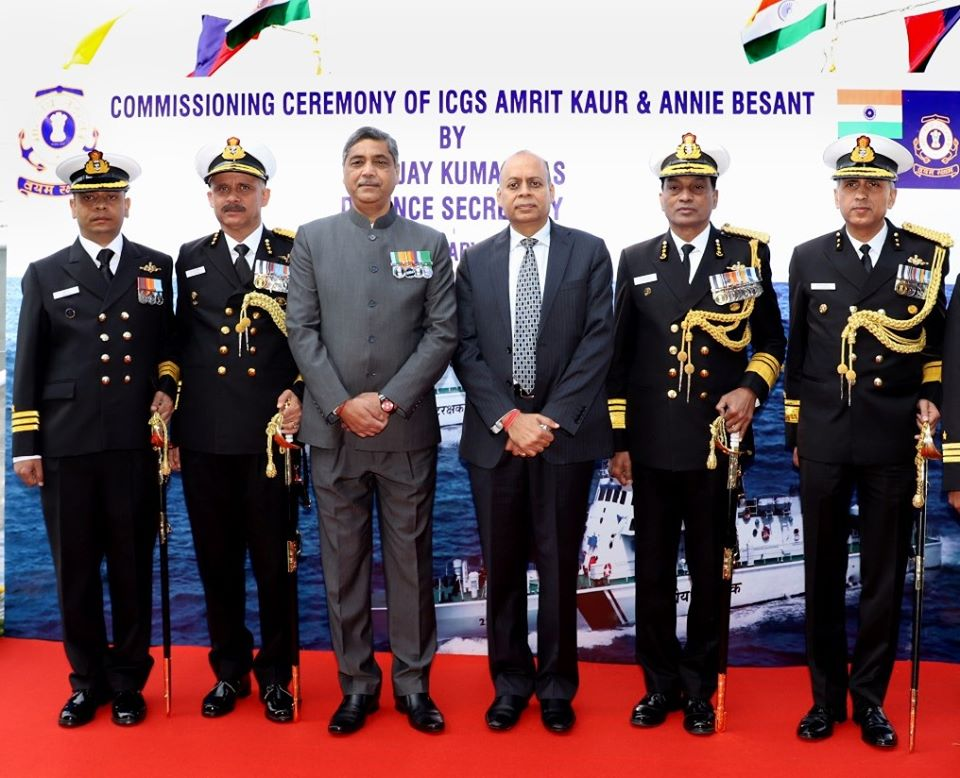 ICGS Amrit Kaur And ICGS Annie Besant Built By GRSE
