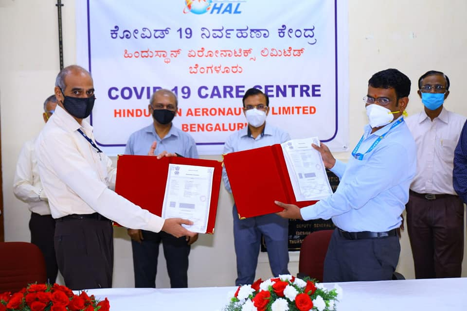 HAL Establishes COVID-19 Care Centre in 16 Days
