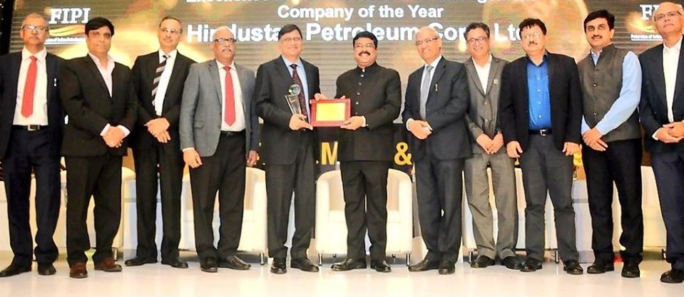 HPCL wins the company of the year award